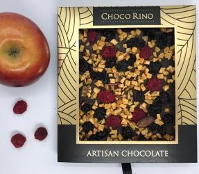 Mézes Csoki ChocoRino 75 % - Gyümölcsös díszdobozban
